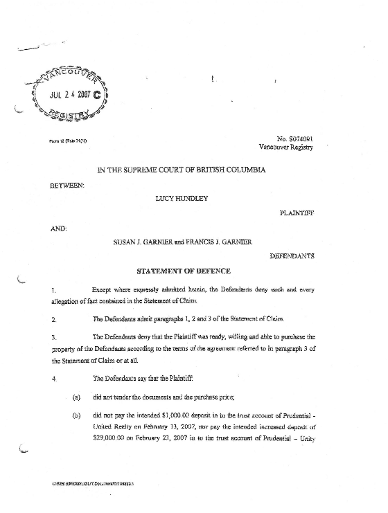 List Of Documents